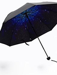 Azul Guarda-Chuva Dobrável Sombrinha Plastic Carrinho