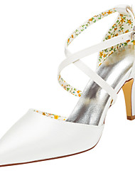 Women's Heels Spring / Fall Others Stretch Satin Wedding / Party & Evening Stiletto Heel Buckle Ivory / White Others