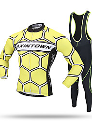 XINTOWN® Lightning Cycling Jersey with Shorts Men's Short Sleeve BikeBreathable / Quick Dry / Ultraviolet Resistant / Moisture Permeability / High