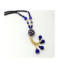 Women's Long Necklace Glass Basic Fashion Beaded Jewelry For Daily Casual 1pc