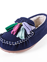 Kids Boys Girls Flats Spring / Fall / Winter Comfort / Flats Suede / Casual Flat Heel Slip-on Loafers Pink / Blue