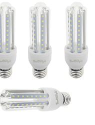 9W E26/E27 Lâmpadas Espiga T 48 SMD 2835 750 lm Branco Quente / Branco Frio Decorativa V 4 pçs