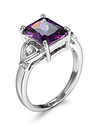 Ring AAA Cubic Zirconia Zircon Cubic Zirconia Fashion Purple Champagne Jewelry Casual 1pc