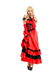 Cosplay Costumes Princess Festival/Holiday Halloween Costumes Red Solid Skirt / Sleeves / More Accessories Female