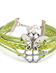 Women's Wrap Bracelet Leather Bracelet Bracelet Loom Bracelet Leather Alloy Punk Green Jewelry 1pc