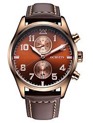 OCHSTIN Brand Men's Watch Import Quartz Movement Two Sub Dials Multi-function Quartz Men Wristwatch