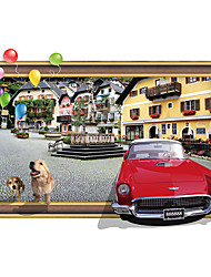 Building Wall Stickers Dogs Stickers Car Decals for Kids Home Decor