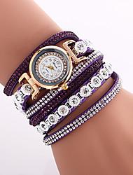 Женские Модные часы Наручные часы Часы-браслет Цветной Имитация Алмазный Кварцевый PU ГруппаВинтаж Богемные С подвесками Кольцеобразный