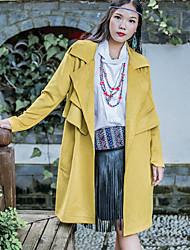 signer tache longue section en daim veste coupe-vent au printemps et à l'automne femme korean manteau lâche cravate angleterre