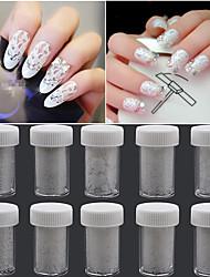 10pcs Nagel-Kunst-Aufkleber Lace-Aufkleber Make-up kosmetische Nail Art Design