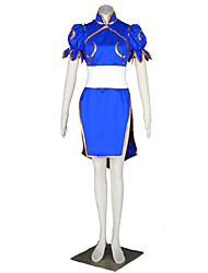 The King Of Fighters Cosplay Costumes Cheongsam/ Waist Accessory /  Headpiece Female