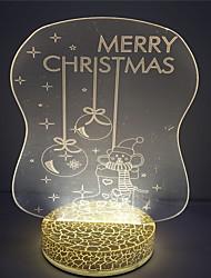 2w effet 3d de couleur blanc chaud pour la coutume décorative Noël a mené la lumière de nuit