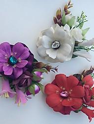 Свадебные цветы Розы Лилии Бутоньерки Свадьба Партия / Вечерняя Атлас Стразы