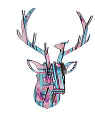 noël cadeaux décorations en bois tête d'animal tête ensemble de cerfs suspendus
