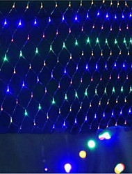 LED-Netze Weihnachtsbeleuchtung wasserdicht eingefärbten 1.5 * 1.5 M96 Lampenfassung leuchtet