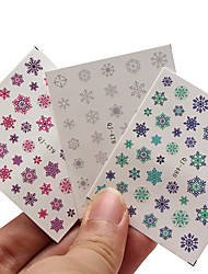 3pcs Nail Christmas Snowflake Nail Sticker