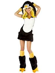 Costumes de Cosplay Costumes de père noël Fête / Célébration Déguisement Halloween Noir Mosaïque Robe / Plus d'accessoires Noël Féminin