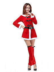 Cosplay Costumes Santa Suits Movie Cosplay Red Solid Top / Leg Warmers Christmas Polyester