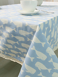 Square Patterned / Animal Table Cloth , Cotton Blend Material Hotel Dining Table / Table Decoration