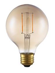 2W E26 Lâmpadas de Filamento de LED G80 2 COB 180 lm Âmbar Regulável AC 110-130 V 1 pç