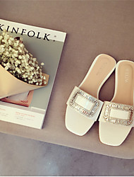 Women's Slippers & Flip-Flops Others PU Casual Brown White