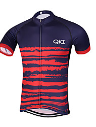QKI Tigre Pro Cycling Jersey Men's Short Sleeve Bike Breathable / Quick Dry / Anatomic Design / Front Zipper / Reflective Strips