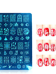 3pcs/lot Christmas Series Nail Art Stamp Stamping Stainless Steel Mold