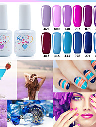 Gel UV para esmalte de uñas 15ml 1picec Brillante Esmalte Gel UV de Color Empapa de Larga Duración