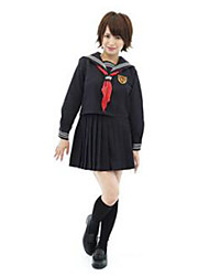 Cosplay Costumes Party Costume Career Costumes Student/School Uniform Festival/Holiday Halloween Costumes Black SolidShirt Skirt More