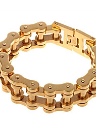 Men's Chain Bracelet Fashion Stainless Steel Gold Plated Jewelry For Party Anniversary Birthday Gift Daily Casual