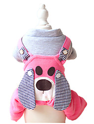 Dog Pants / Harness Yellow / Blue / Pink Dog Clothes Winter / Spring/Fall Animal Keep Warm