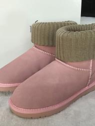 Women's Boots Winter Comfort Suede Casual Black Pink