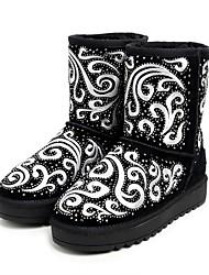 Women's Boots Comfort Suede Casual Black Almond