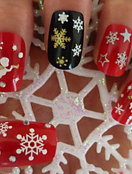 4pcs Nail Christmas Snowflake Nail Sticker Random Color
