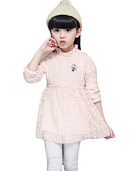 Girl's Casual/Daily Solid Dress,Wool Blend Spring / Fall Long Sleeve