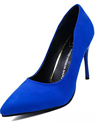 Women's Heels Spring Fall Comfort Cashmere Casual Stiletto Heel Hollow-out Black Blue Red Walking