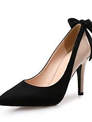 Mujer-Tacón Stiletto-Otro-Tacones-Oficina y Trabajo Vestido Informal Fiesta y Noche-Vellón Microfibra-Negro