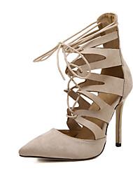 Damen-High Heels-Lässig-MikrofaserOthers-Schwarz / Mandelfarben