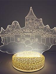 venta al por mayor regalo de Navidad de alta calidad lámpara de noche 3d ilusión USB