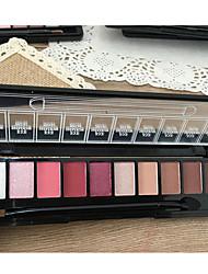 10 Paleta de Sombras Mineral Paleta da sombra Pó Conjunto Maquiagem para o Dia A Dia