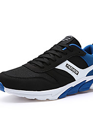 Men's Sneakers Ankle Strap Tulle Summer Fall Athletic Casual Royal Blue Dark Blue Black 1in-1 3/4in