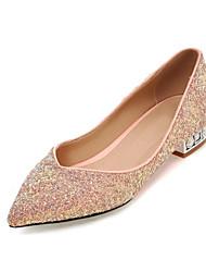Women's Heels Spring Fall Leatherette Office & Career Casual Dress Stiletto Heel Black Green Blushing Pink
