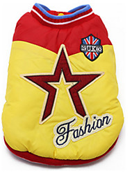 Dog Coat Dog Clothes Casual/Daily Stars Yellow