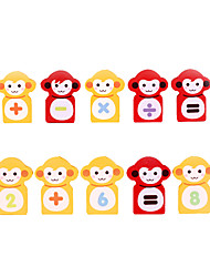 para presente Blocos de Construir Macaco Madeira Brinquedos
