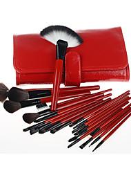 21 Makeup Brushes Set Nylon Travel / Full Coverage / Portable Wood Face / Eye / Lip Others