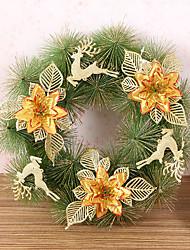 1 pc agulhas guirlanda de Natal de pinheiros decoração do Natal por 30 centímetros casa partido diâmetro navidad novos suprimentos ano