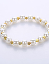 Bracelet Strand Bracelet Alloy Imitation Pearl Halloween Birthday Congratulations Business Gift Party Casual Jewelry Gift White,1pc