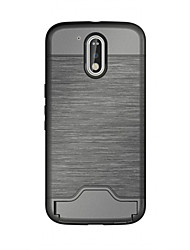 For Motorola Moto G4 Wiredrawing PC and TPU Case Cover with Card Slots And Kickstand Function Cover Case For Moto G4 plus