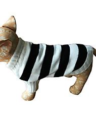 Cane Maglioni Abbigliamento per cani Casual Righe