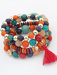 Women's Charm Bracelet Strand Bracelet Acrylic Alloy Fashion White Black Rainbow Jewelry 1pc